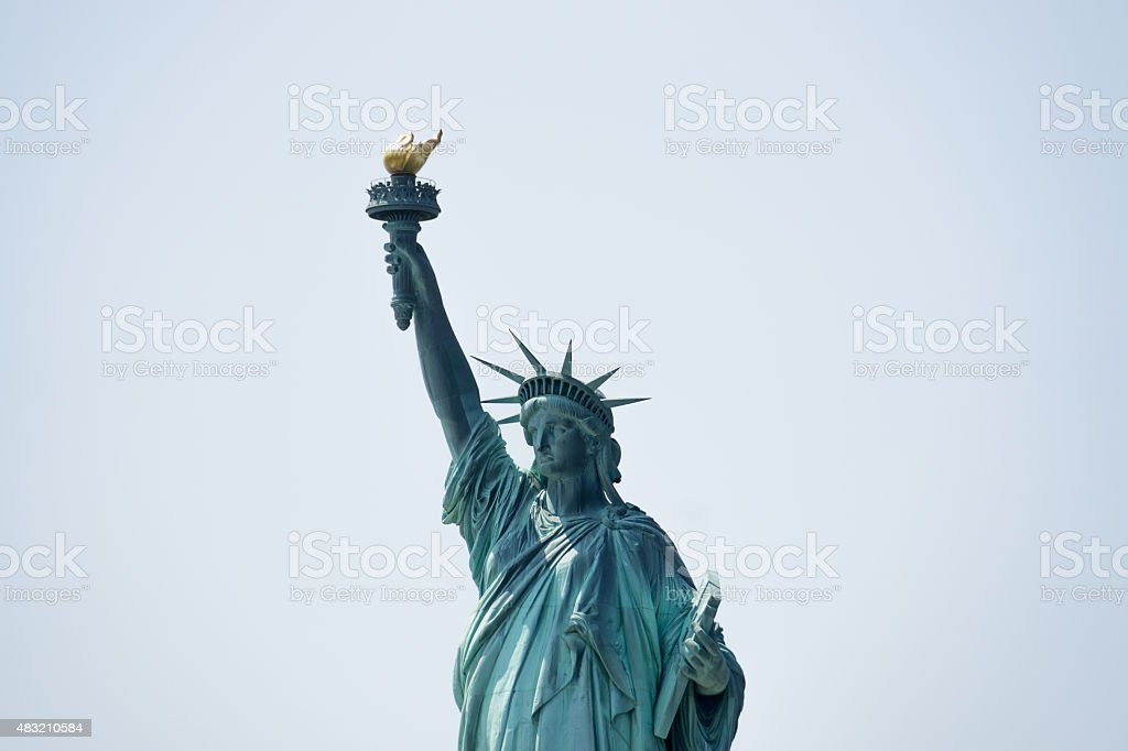 Statue of Liberty Torso Isolated stock photo