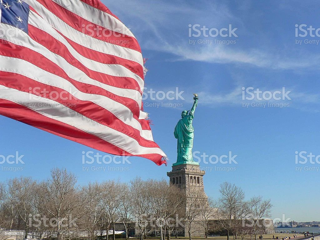 Statue of Liberty, United States of America stock photo