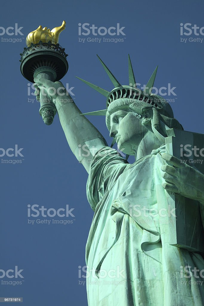 Statue of Liberty - vertical royalty-free stock photo