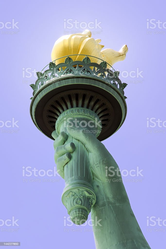 Statue of Liberty's Torch stock photo