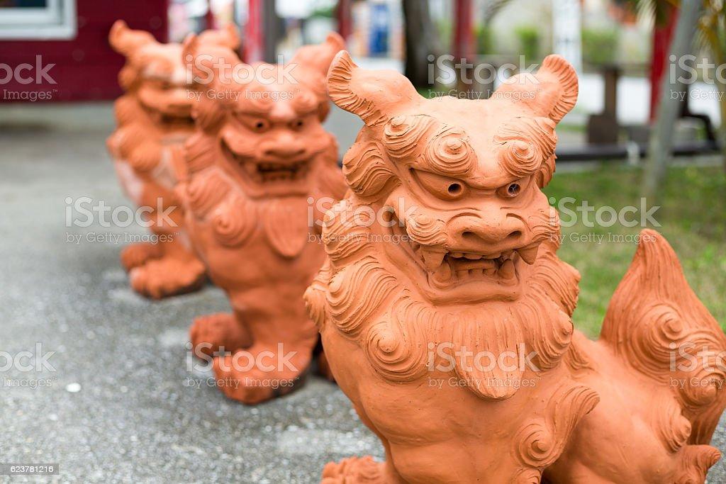 Statue of Lion (Sheesa) stock photo