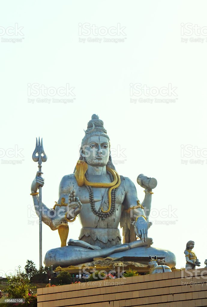 Statue of Lord Shiva in Murudeshwar stock photo