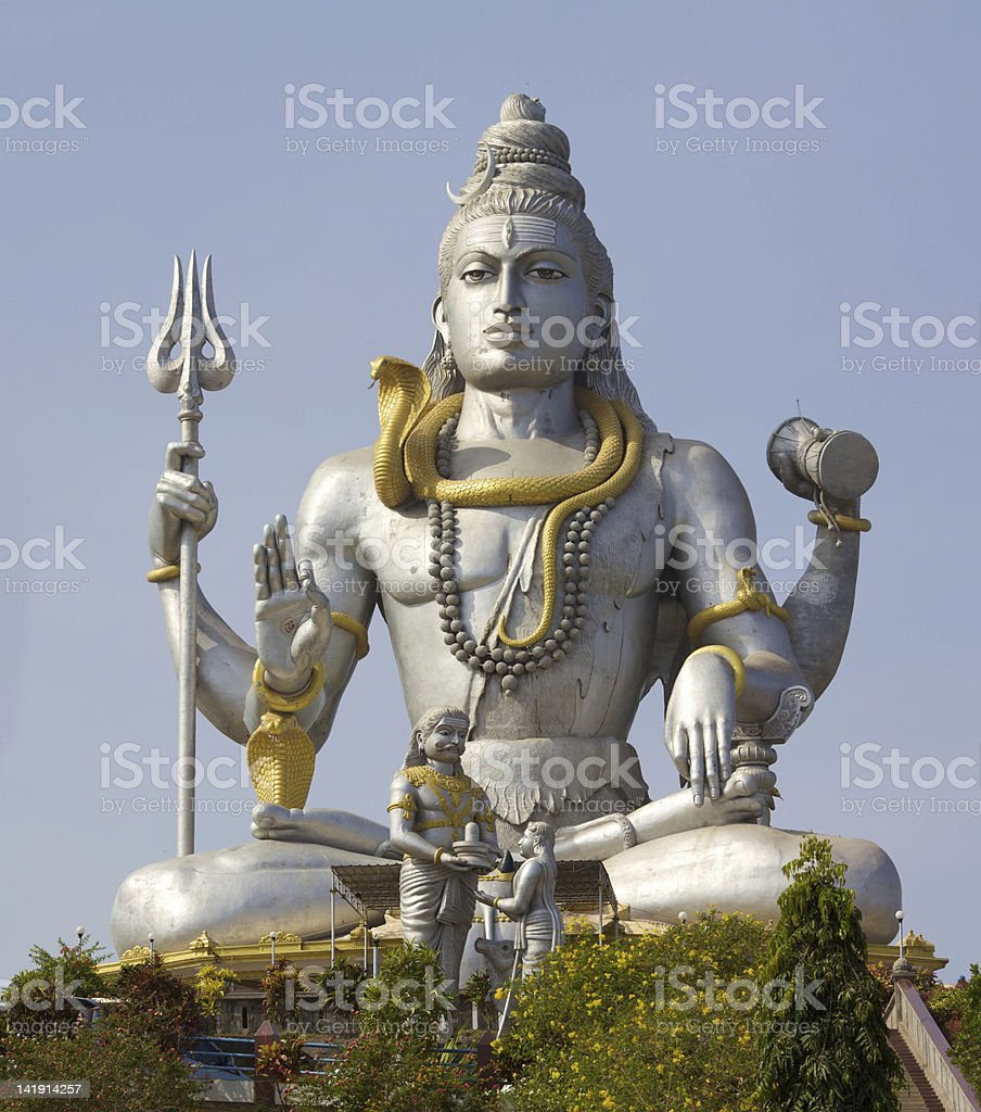 Statue of Lord Shiva royalty-free stock photo