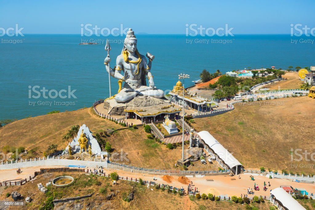 Statue of Lord Shiva was built at Murudeshwar stock photo