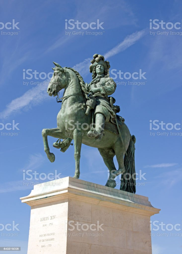 Statue of Louis XIV stock photo