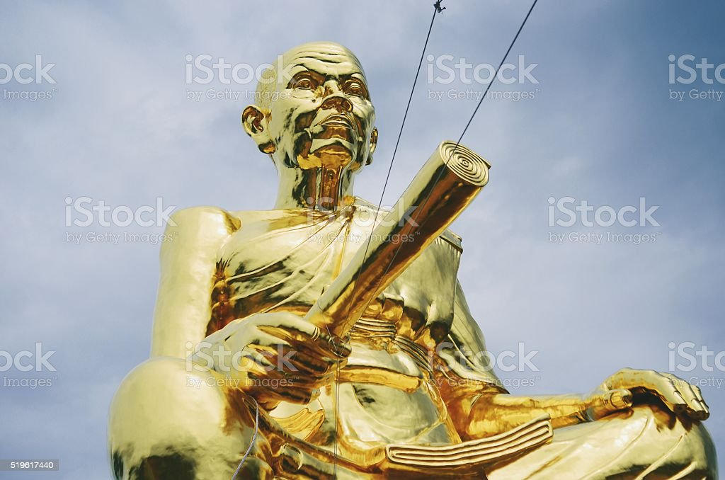 Statue of Luang Phor Koon Temple in Nakhon Ratchasima, Thailand stock photo