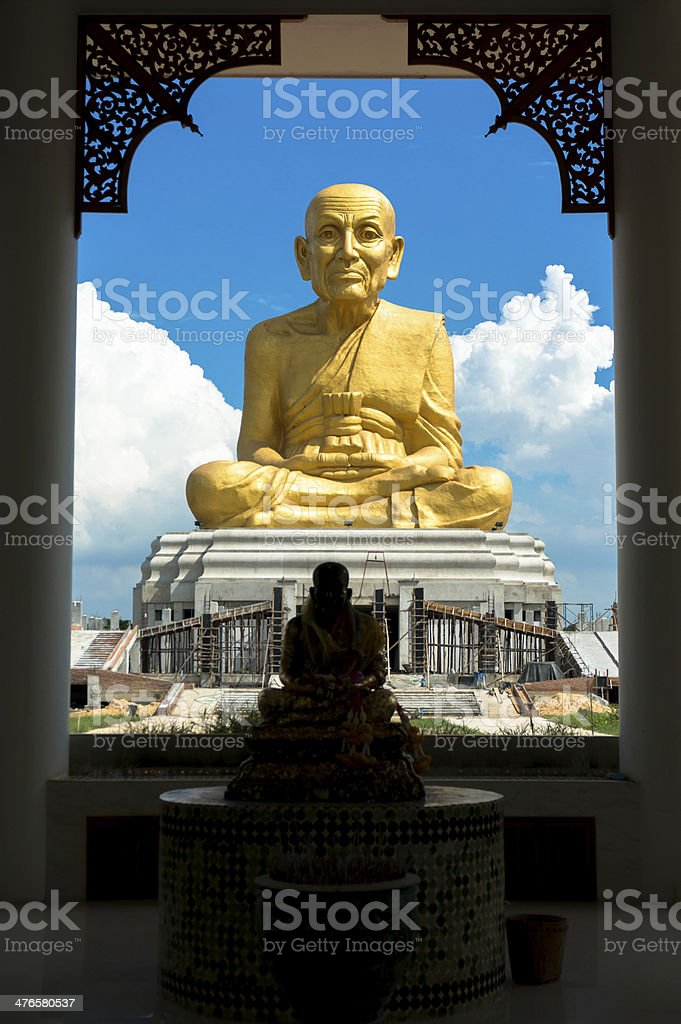 Statue of Luang Pu Thuat stock photo