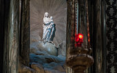Statue of Madonna and Child at St Sulpice
