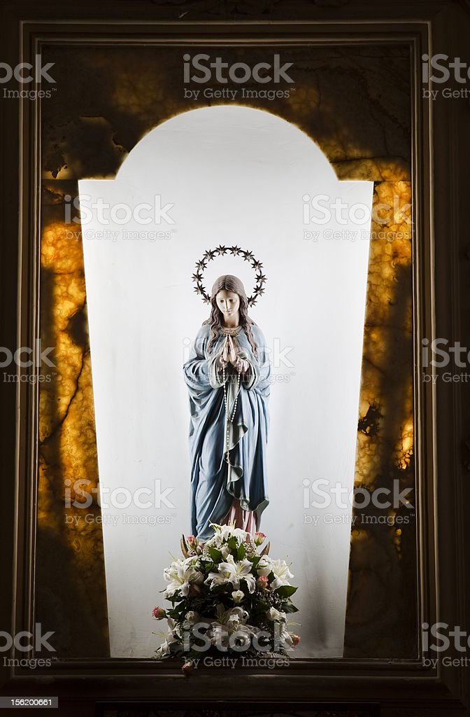 Statue of Madonna. royalty-free stock photo