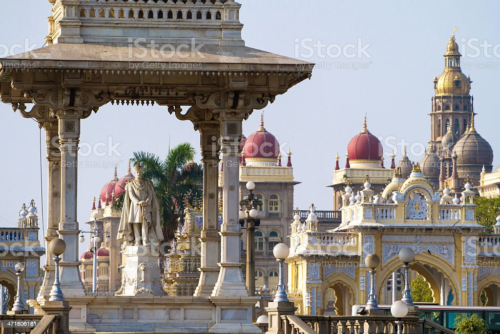 Statue of Maharaja Chamarajendar Wodeyar stock photo