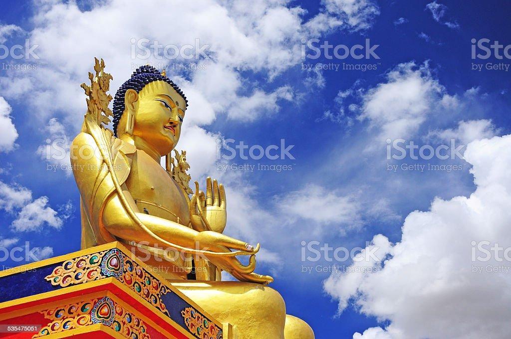 statue of Maitreya at Likir Monastery stock photo