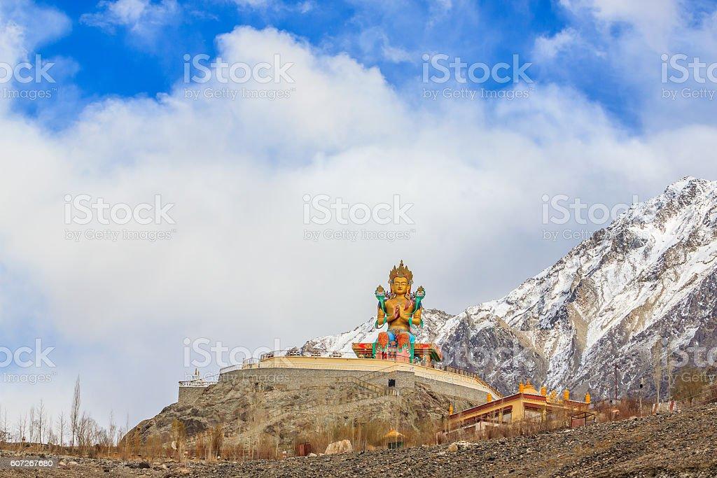 Statue of Maitreya Buddha stock photo