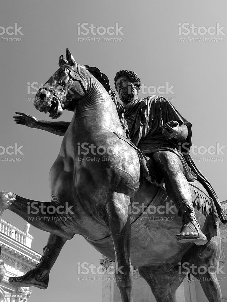 Statue of Marcus Aurelius, Rome royalty-free stock photo