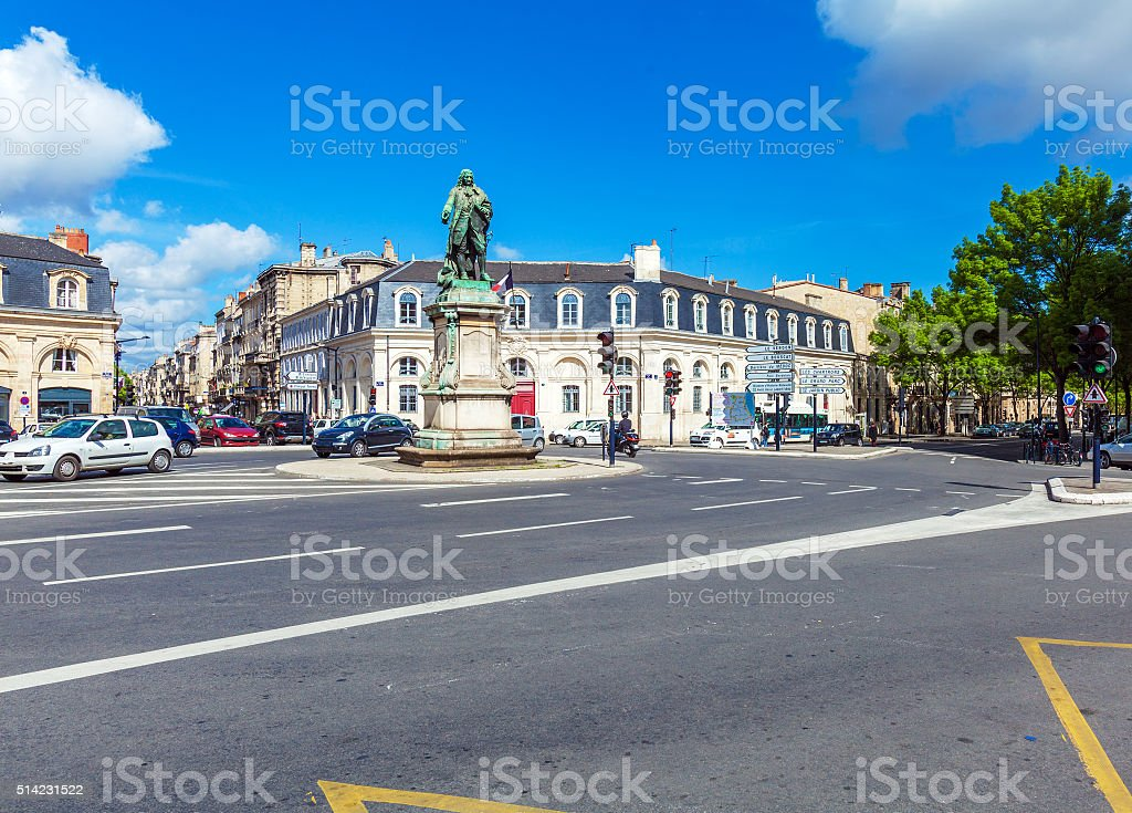 Statue of  Marquis de Tourny   Bordeaux stock photo