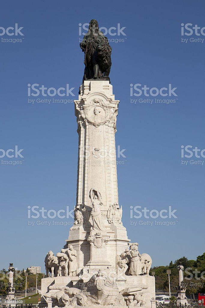 Statue of Marqu?s do Pombal stock photo