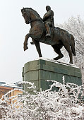Statue of marshal Ivan Bagramyan in Yerevan