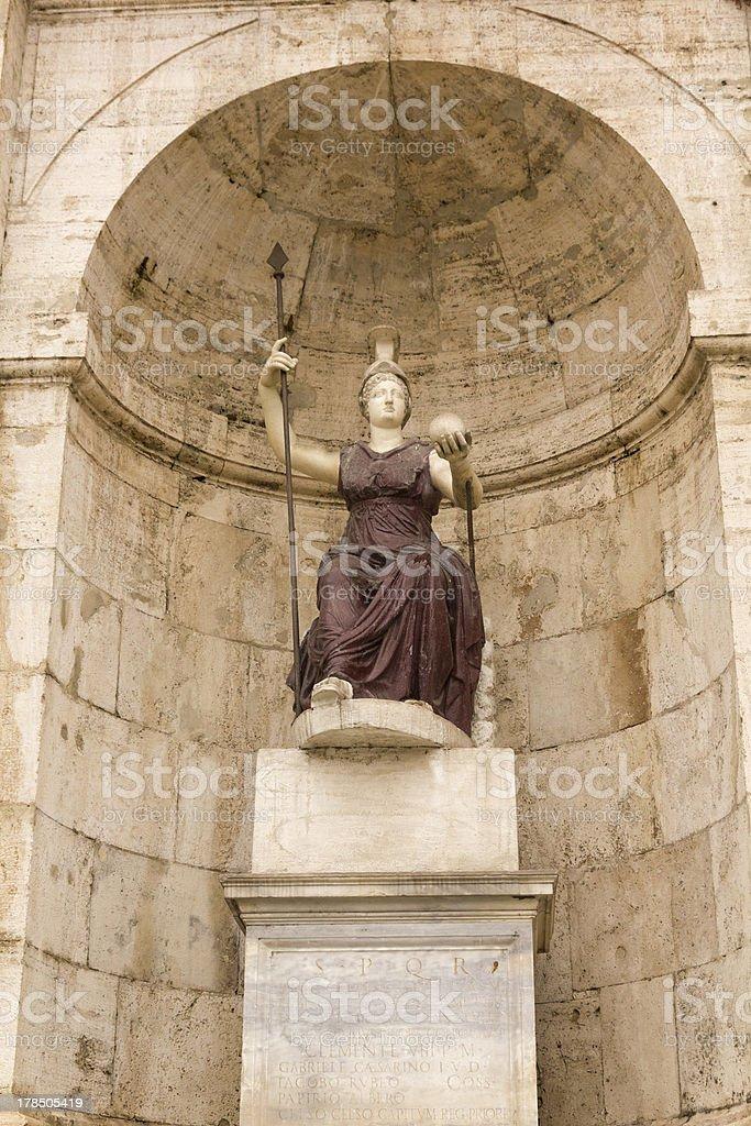 statue of Minerva. Campidoglio, Rome, Italy. royalty-free stock photo