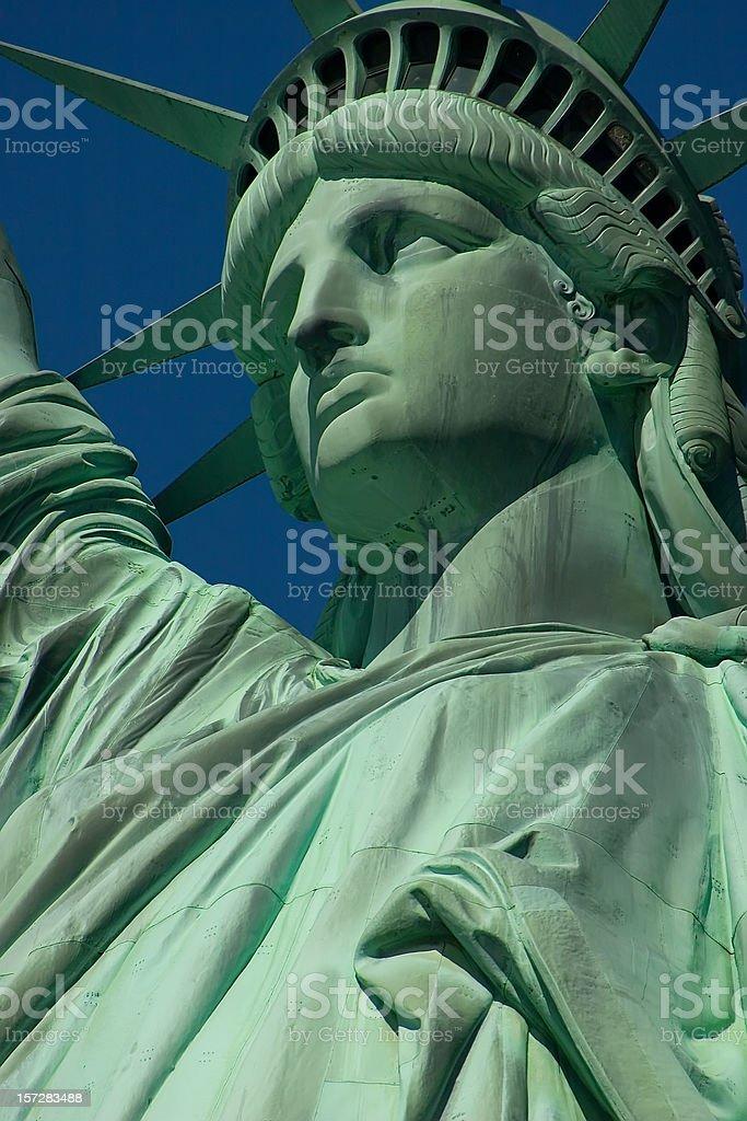 Statue of Miss liberty stock photo
