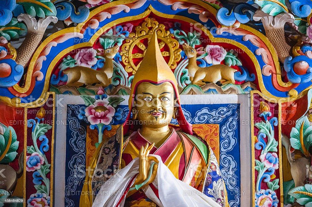 Statue of monk, Tawang monastery, Arunachal Pradesh, India. royalty-free stock photo