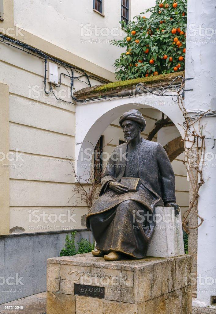 Statue of Moses Maimonides, Cordoba, Spain stock photo