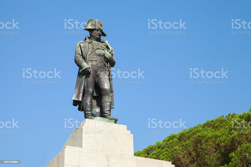 Statue of Napoleon Bonaparte, Ajaccio, France stock photo
