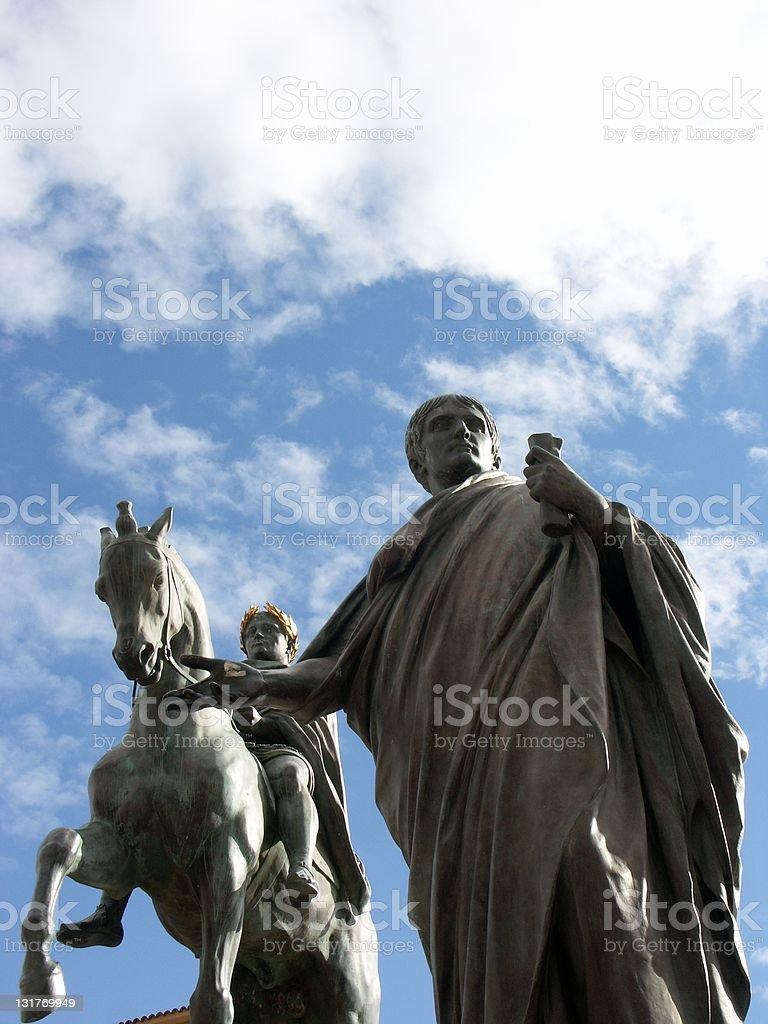 Statue of Napoleon in Ajaccio (Corsica) stock photo