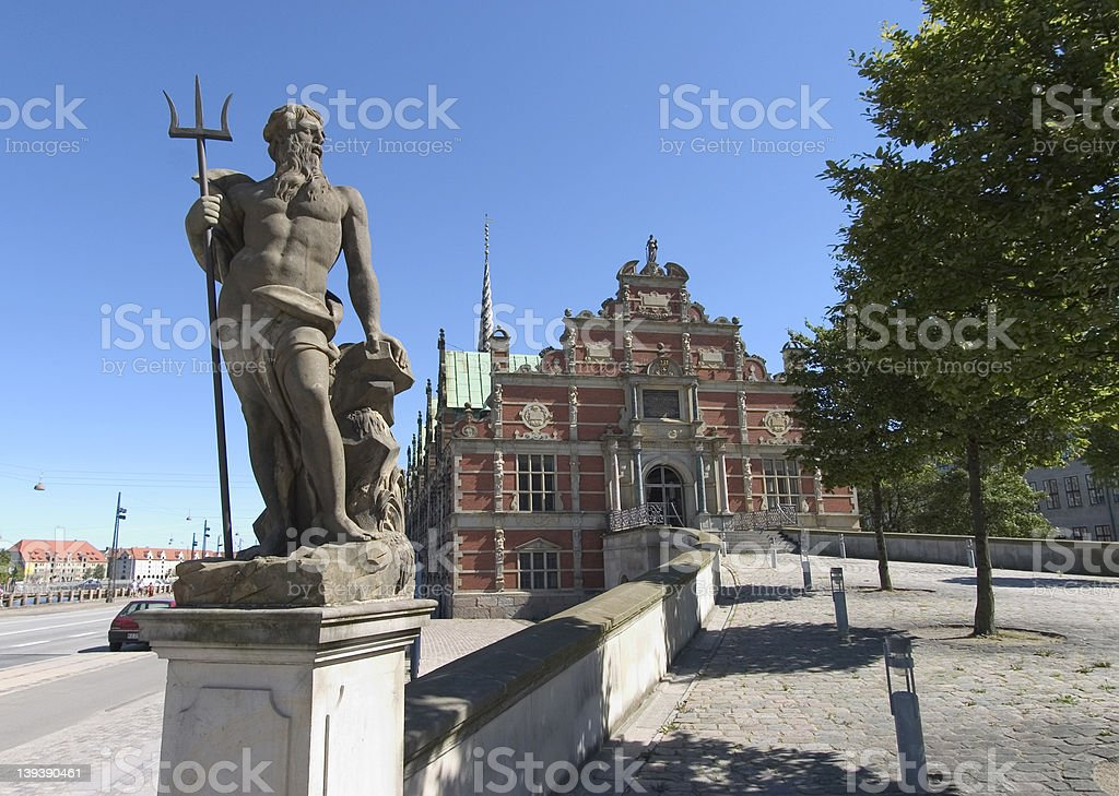 Statue of neptune, Copenhagen stock photo