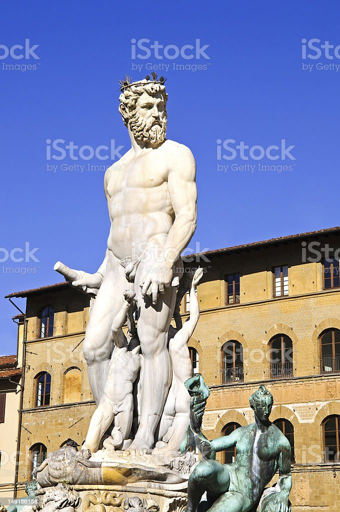 Statue of Neptune in Florence royalty-free stock photo