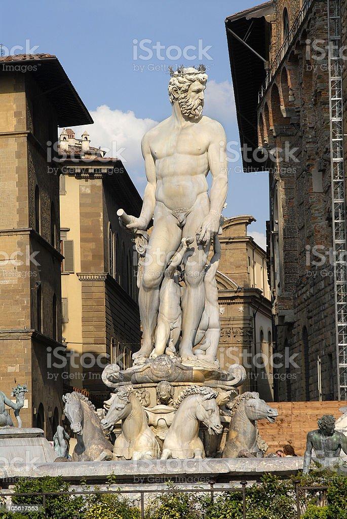 Estatua de neptuno foto de stock libre de derechos