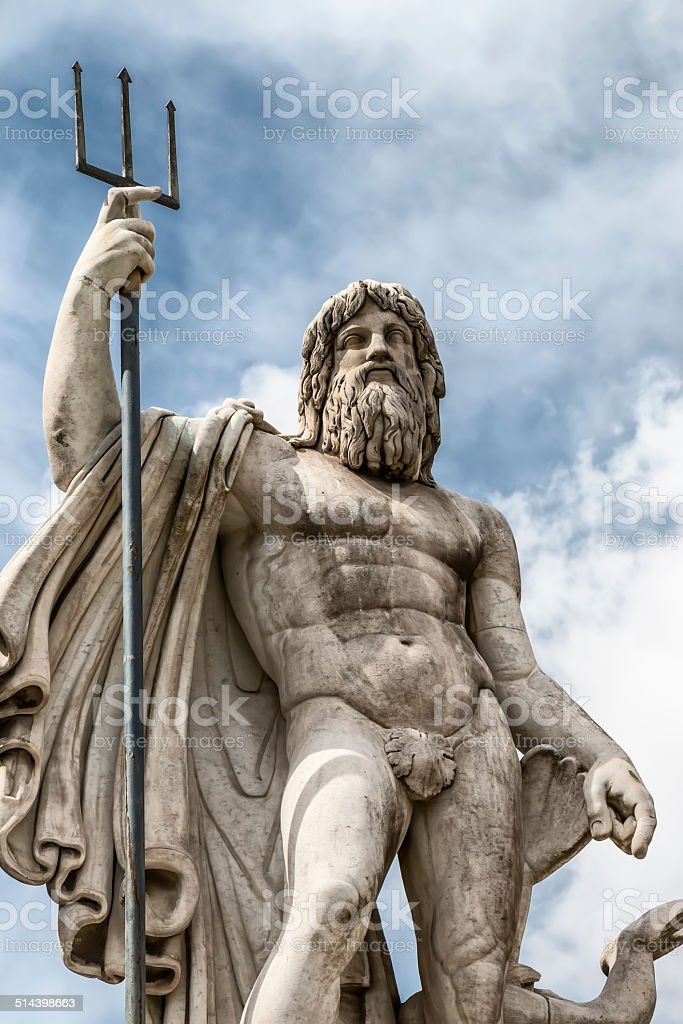 statue of Neptune stock photo