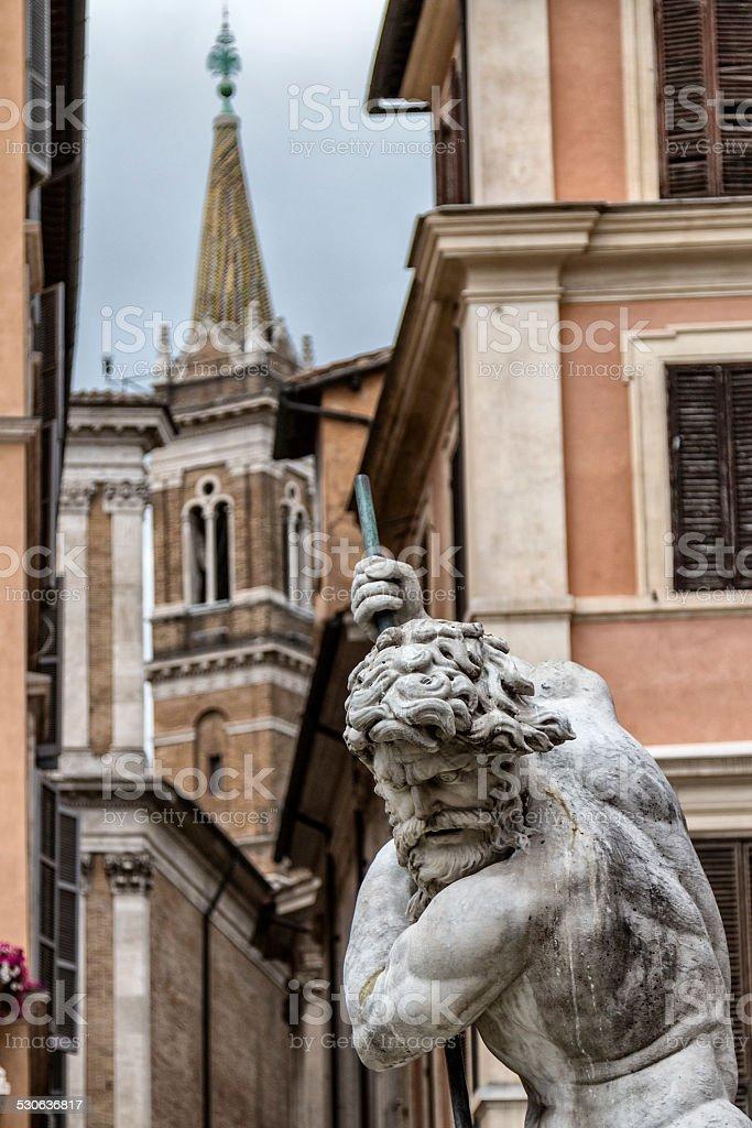 statue of Neptune stock photo