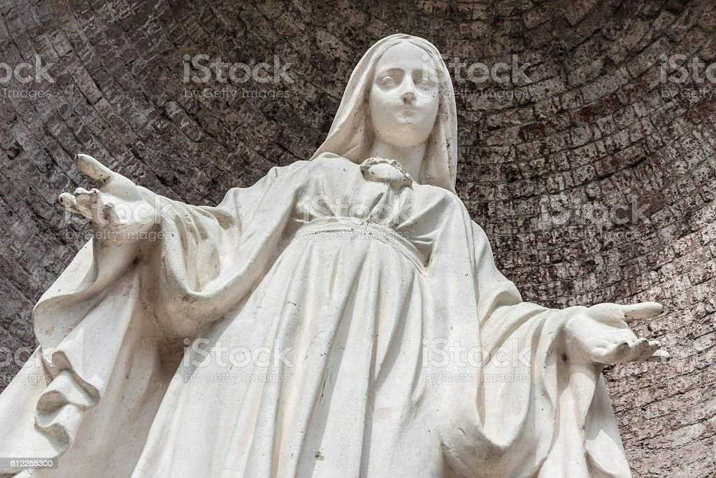 Statue of Our Lady stock photo