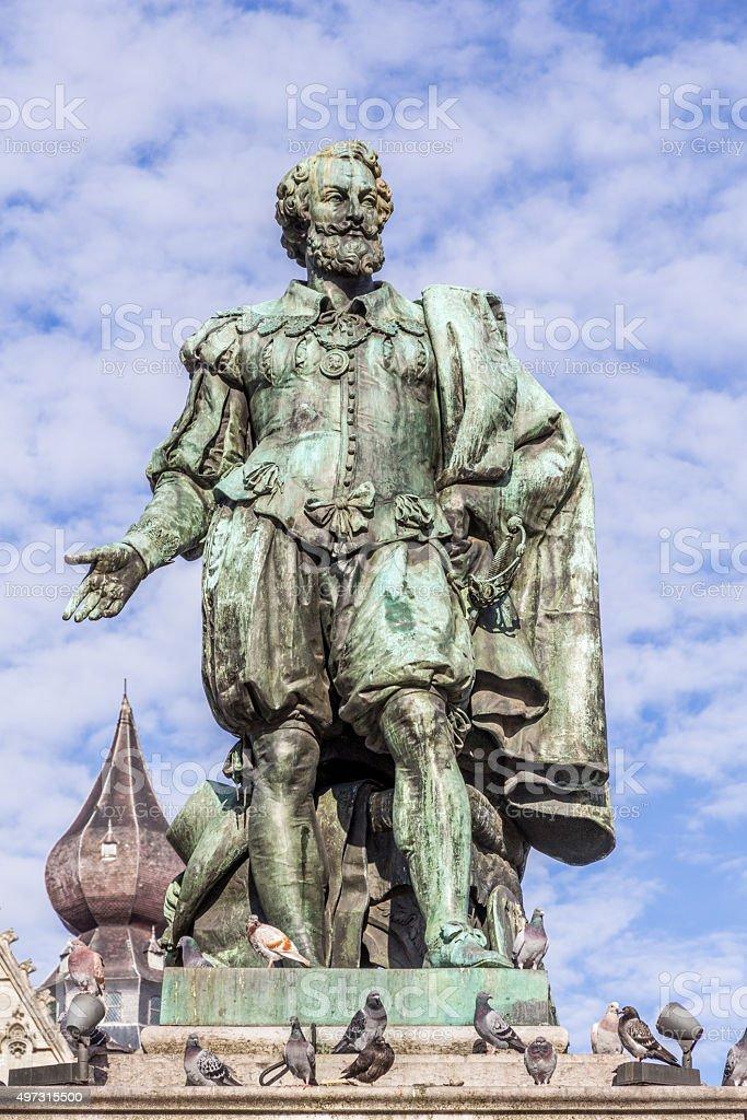 Statue of painter Peter Paul Rubens stock photo