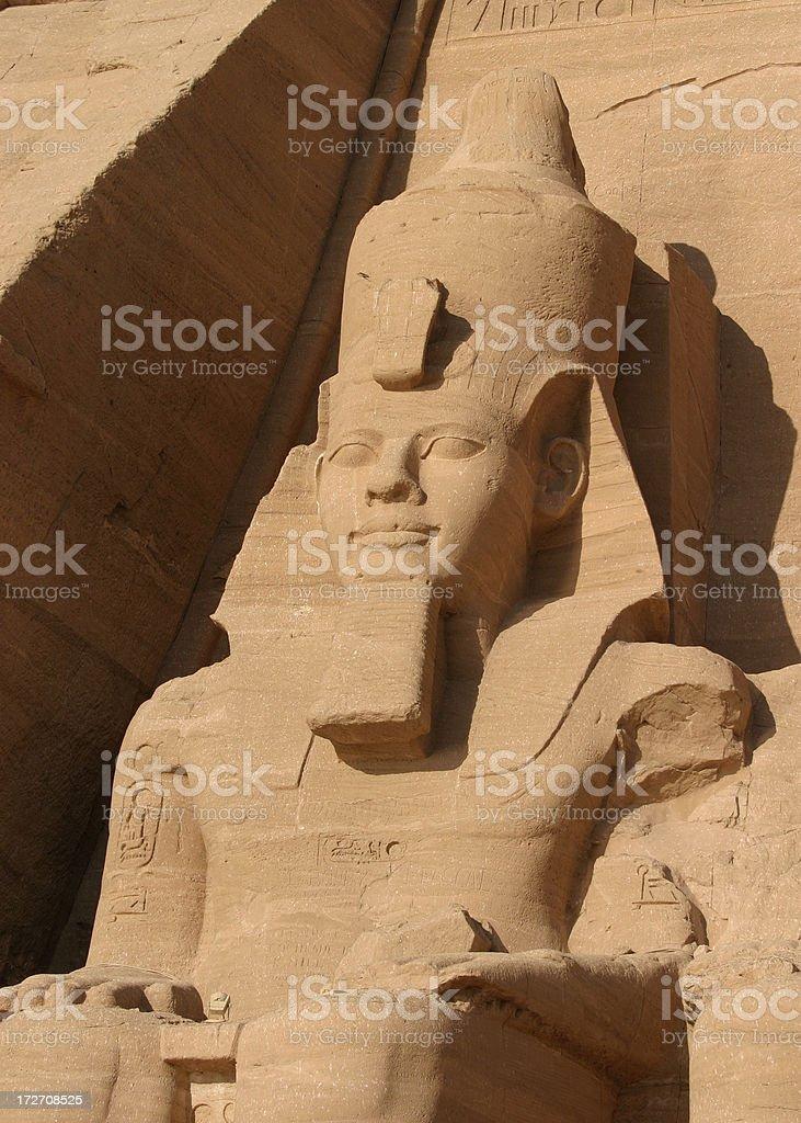 Statue of Pharaoh Ramses II royalty-free stock photo