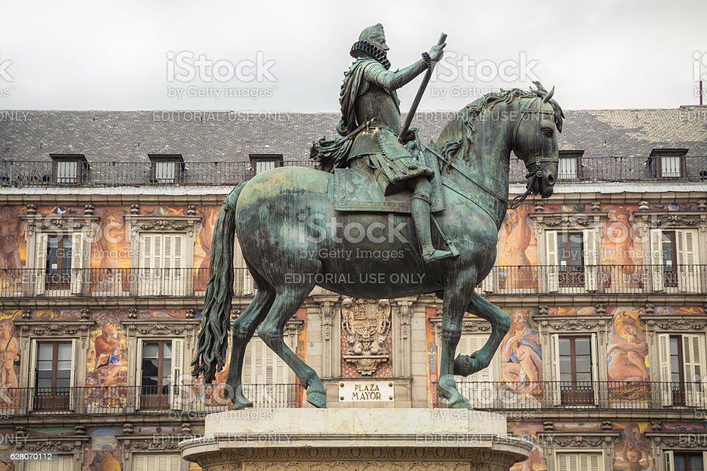 Statue of Philip III stock photo