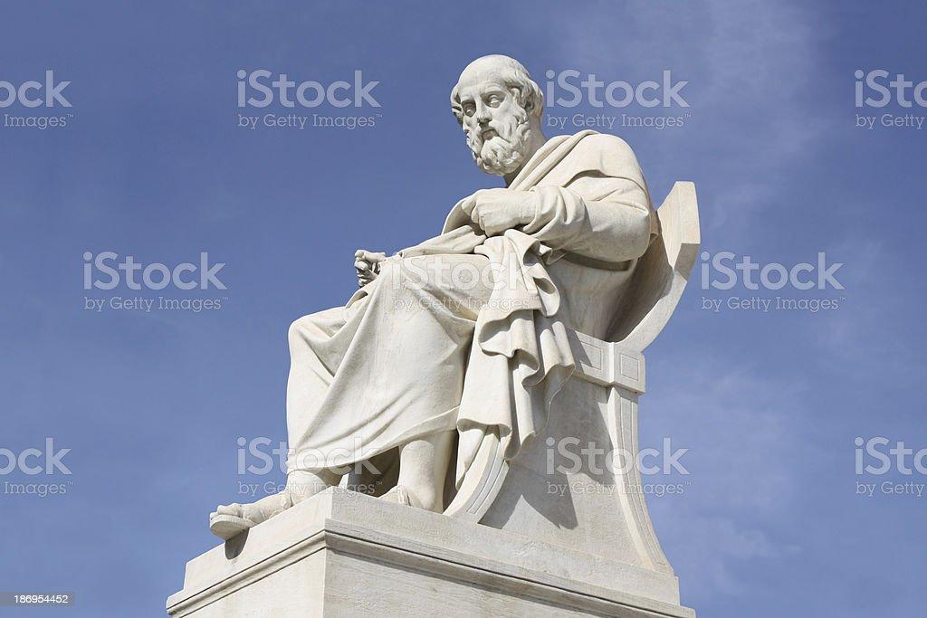 Statue of philosopher Plato in Athens, Greece stock photo