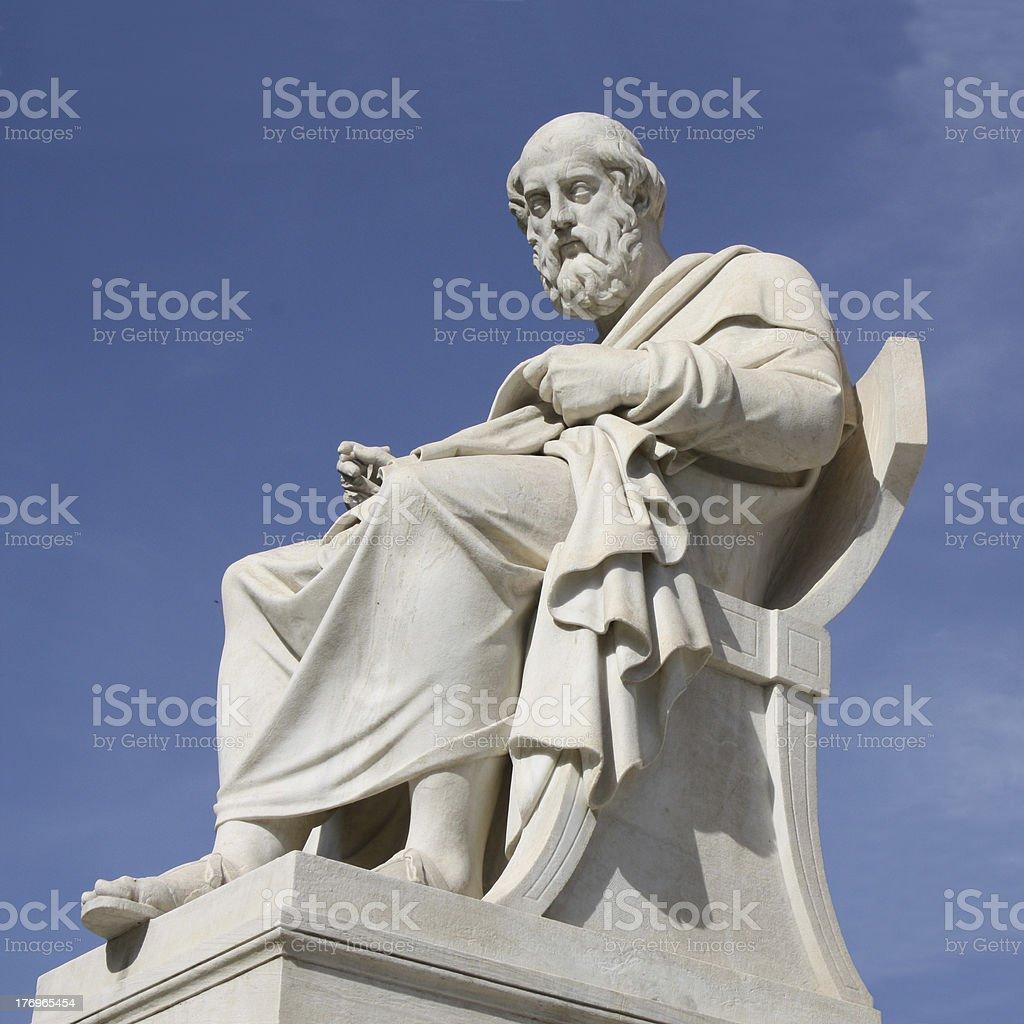 Statue of Plato in Athens, Greece stock photo