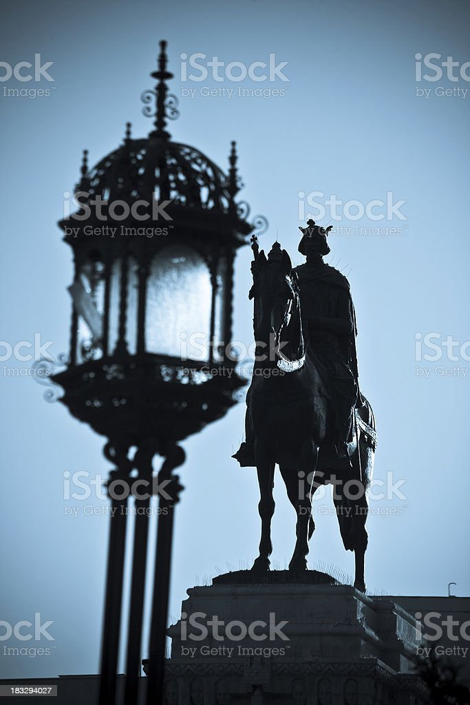 Statue of Plaza Nueva in Sevilla royalty-free stock photo
