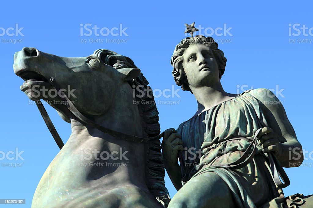 Statue of Pollux at Torino stock photo