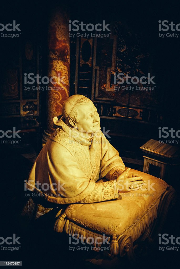 statue of Pope Pius IX royalty-free stock photo