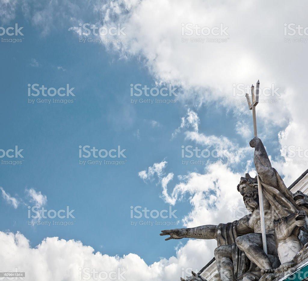Statue of Poseidon (Neptune) stock photo