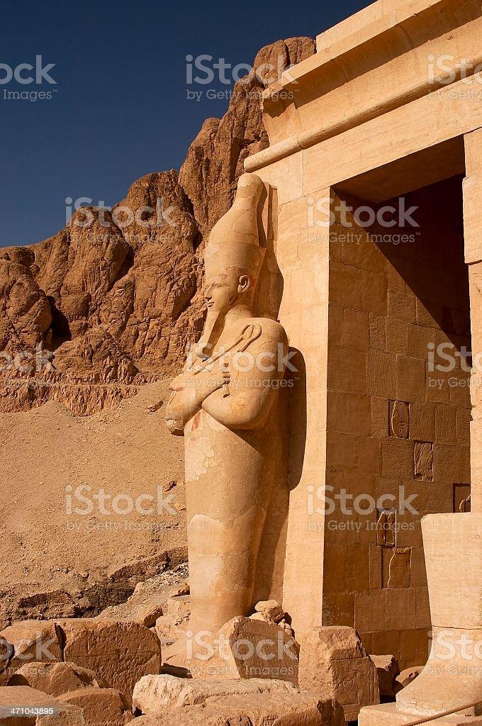 Statue of Queen Hatshepsut stock photo