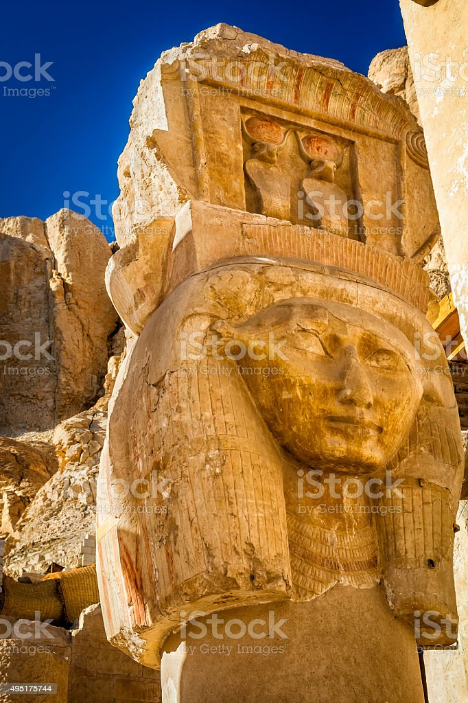 Statue of Rameses II, Egypt stock photo