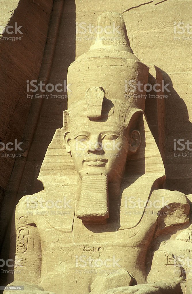 statue of Ramses II at Abu Simbel, Egypt royalty-free stock photo
