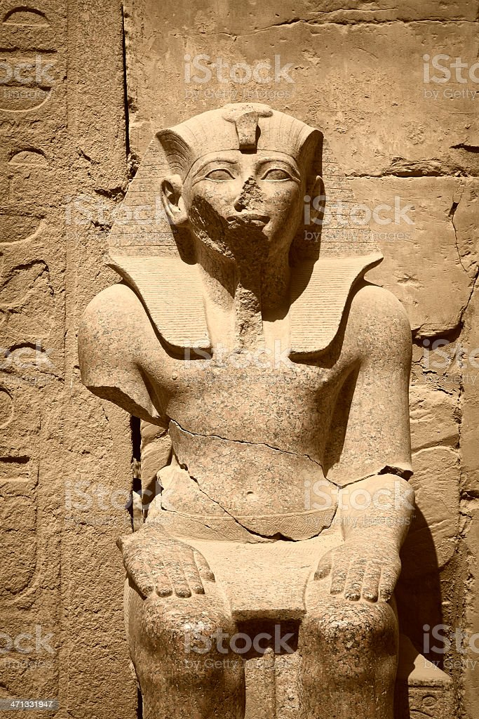 Statue of Ramses II at Luxor Temple stock photo