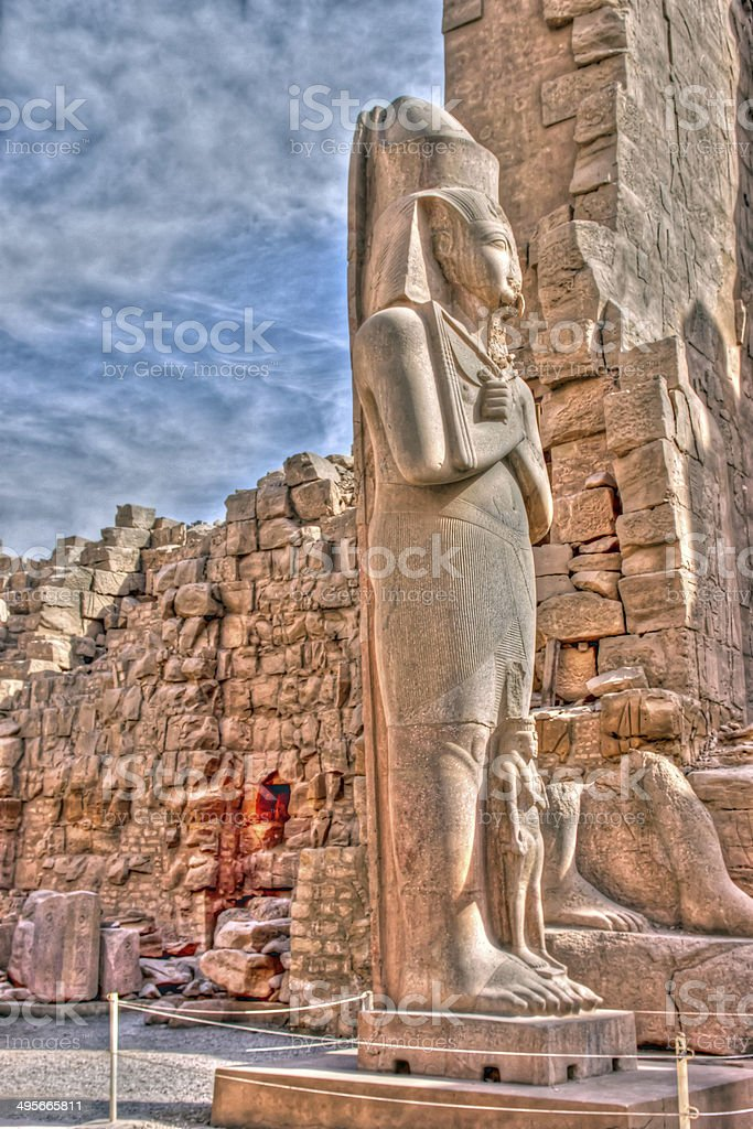 Statue of Ramses II royalty-free stock photo