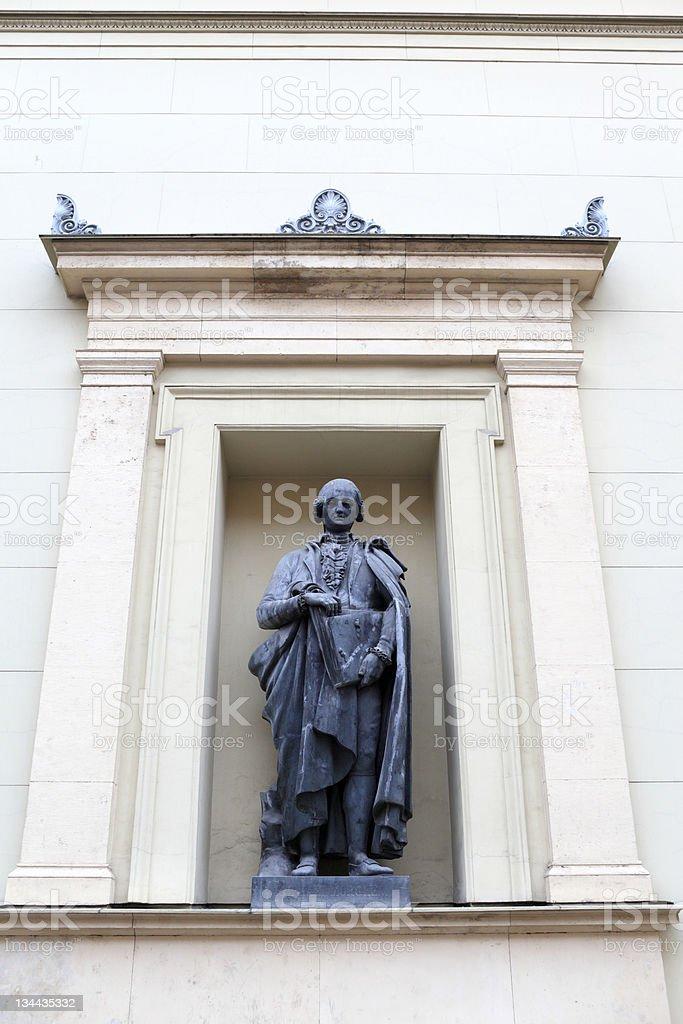 Statue of Raphael Morghen in Saint Petersburg stock photo