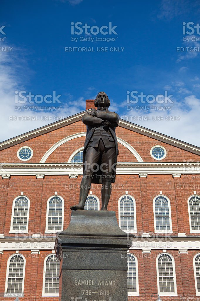 Statue of Revolutionary Patriot, Samuel Adams stock photo