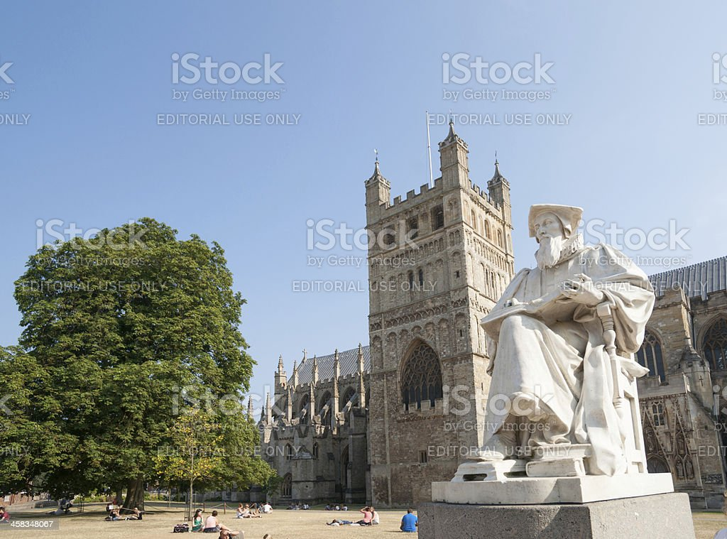 Statue of Richard Hooker, theologian. royalty-free stock photo