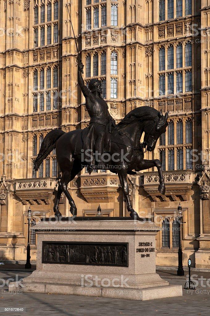 Statue of Richard I stock photo